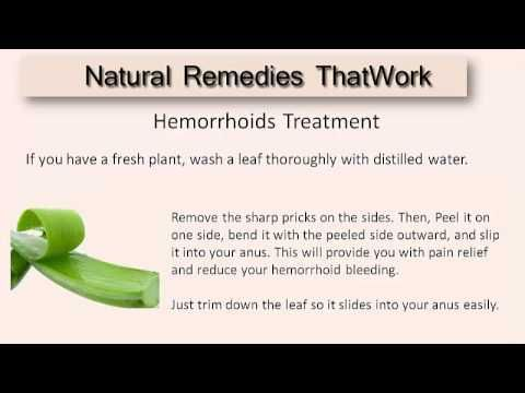 Hemorrhoid Home Treatment:  How To Get Rid Of Hemorrhoids Naturally with...