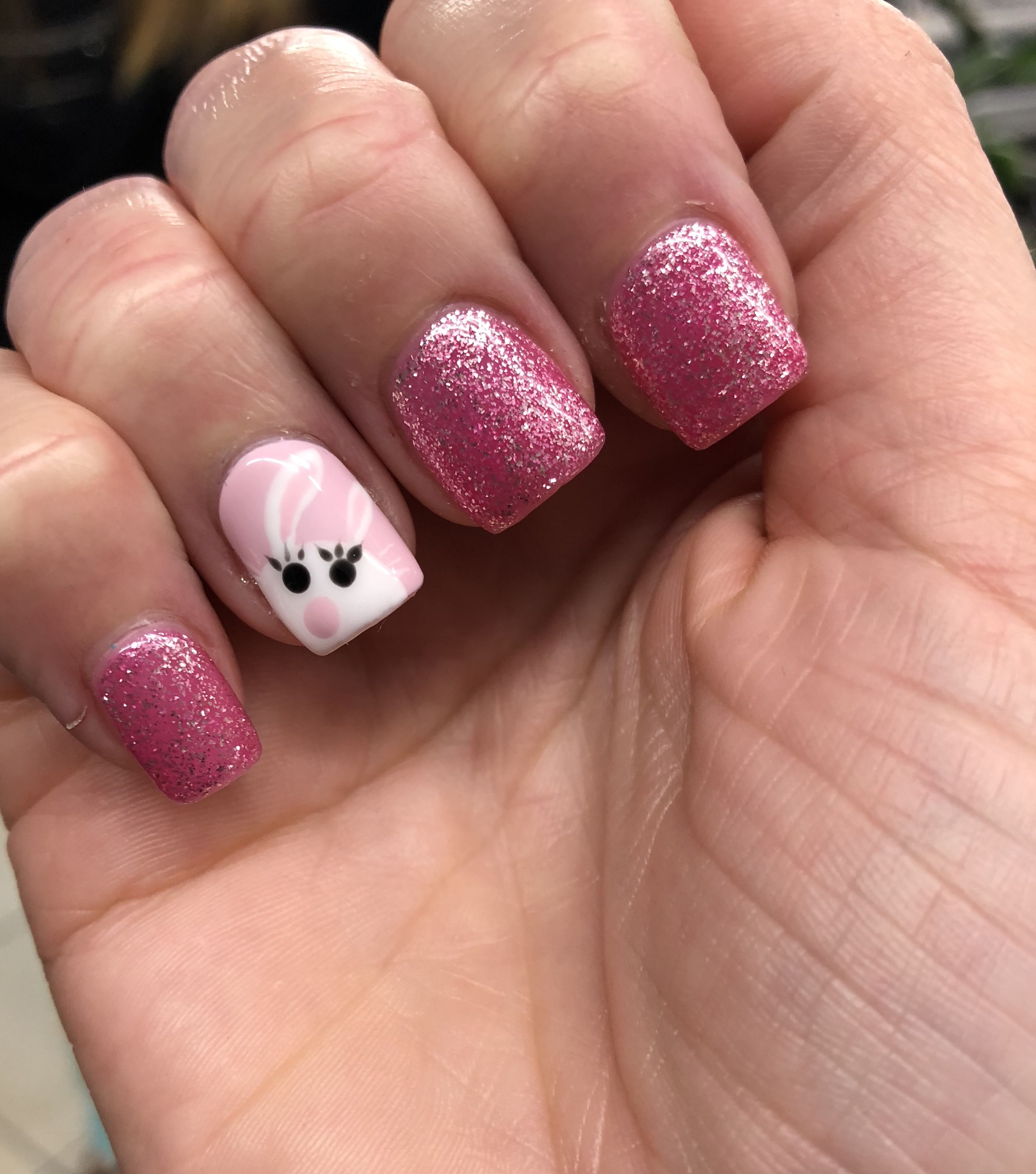 Easter Nail Art Bunny Easter Nail Ideas Pinterest Easter