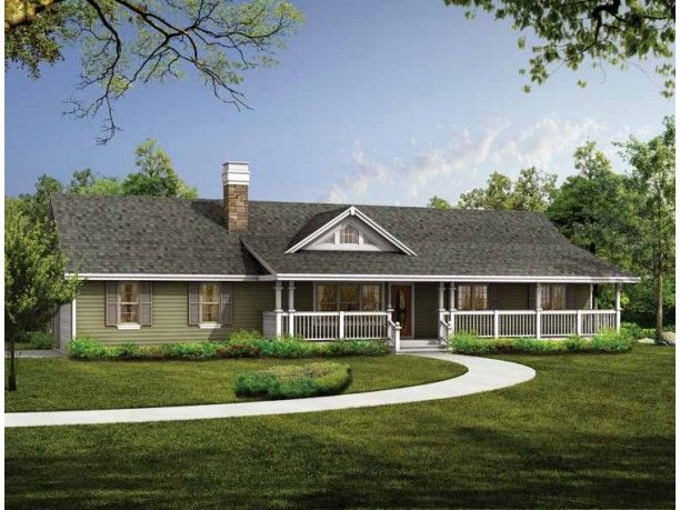 Ranch Style House Plan 3 Beds 2 Baths 1408 Sq Ft Plan 47 331 Ranch Style House Plans Ranch Style Homes Ranch House Designs
