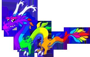 Rainbow Dragon | Things I like | Dragon, Dragon city