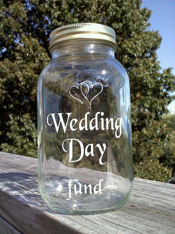 Wedding Day Fund 32 Ounce Jar Piggy Bank By Thatgl On Etsy 10 00