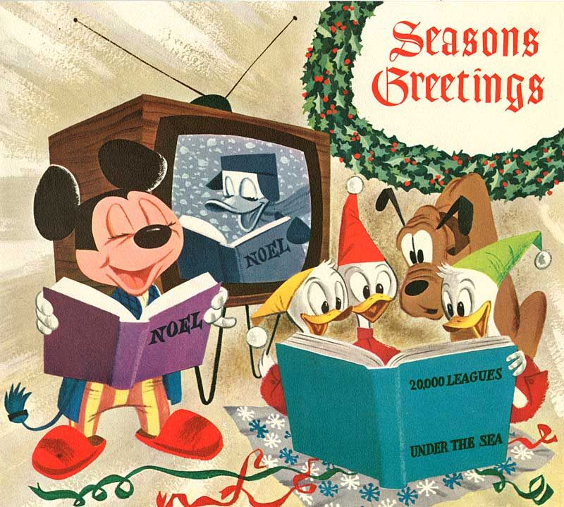 Disney Christmas Cards.Vintage Disney Christmas Card Disney Christmas Cards