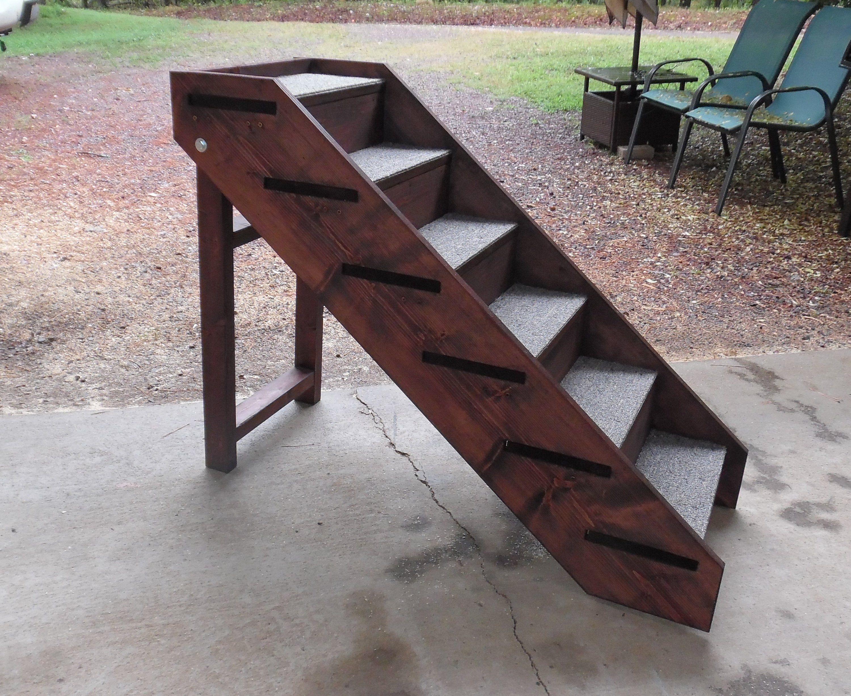 Handmade Pet Steps Wooden Folding Steps 32 Tall x 18 Wide