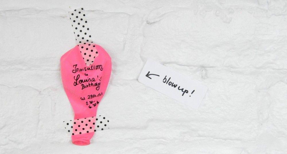 Balloon Party Invitation: Balloon Themed Birthday Party | Munchkins ...