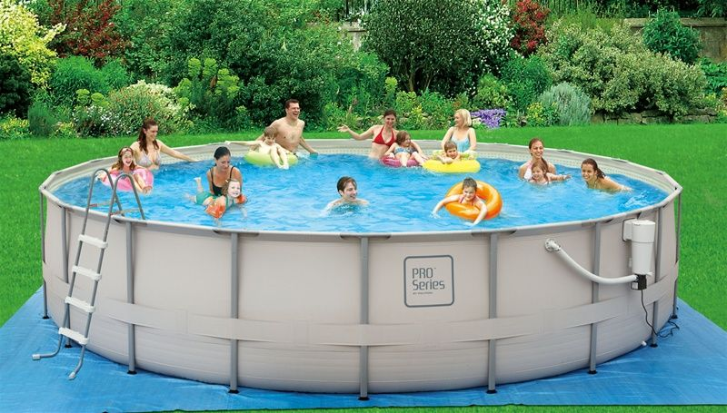 Above ground pool structures that serve as a base for for Above ground pool base ideas