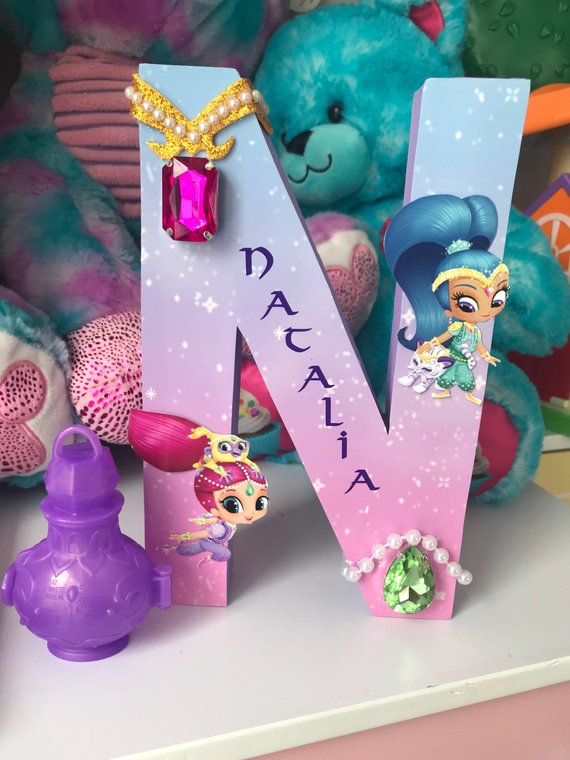8 Personalized Shimmer And Shine Letters Shimmer Shine Table
