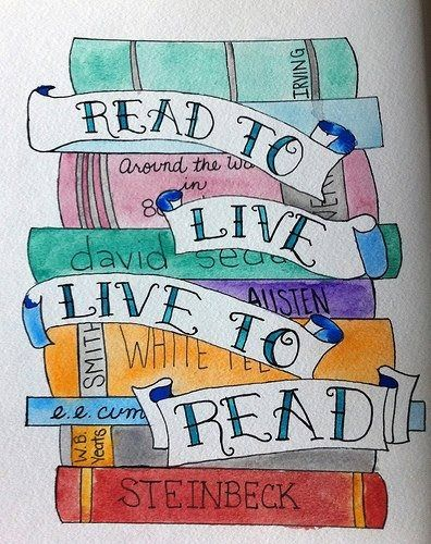Read To Live. Live To Read. Bulletin Board For The Library Idea