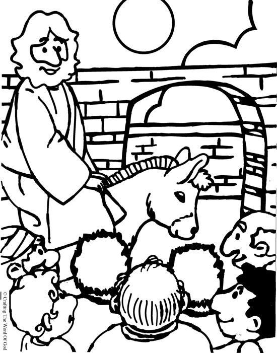 Jesus Enters Jerusalem Coloring Page Sunday School Kids Sunday