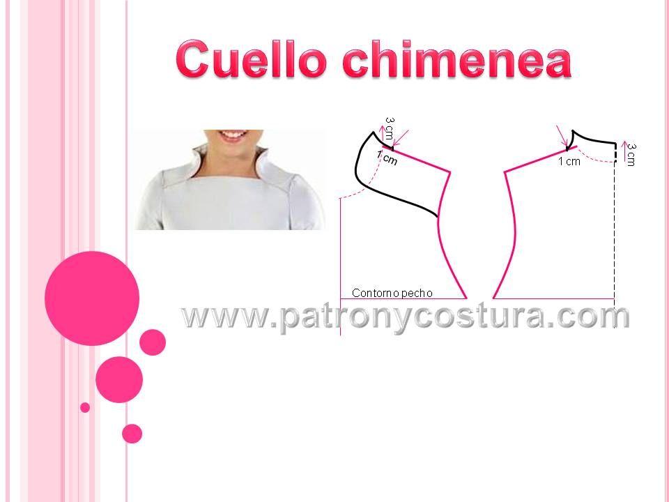 Cuello chimenea. Tema 182 | CORTE Y CONFECCION, trazos moldes ...