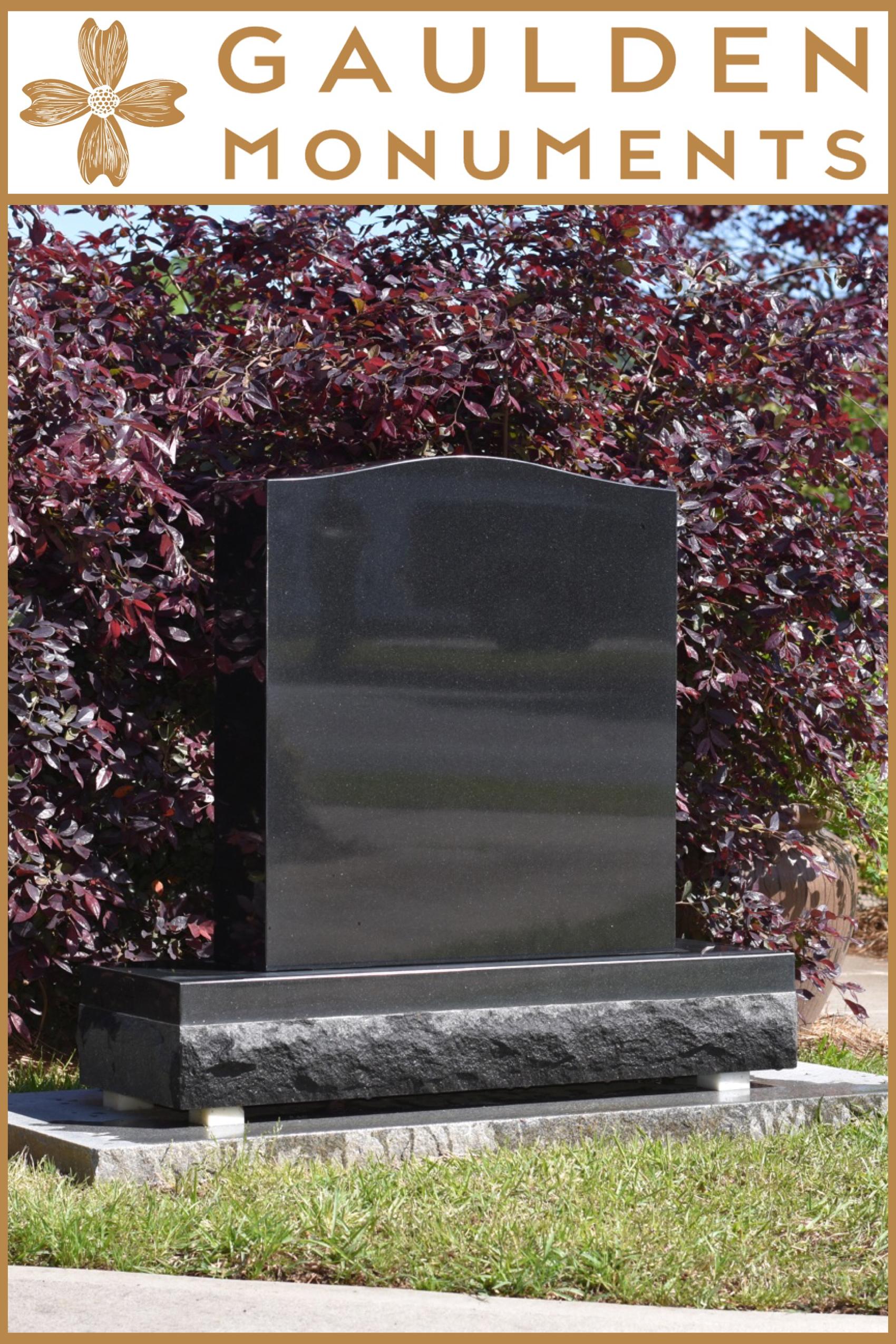 Large Single Upright Headstone Jet Black Granite Gaulden Monuments Headstones Monument Granite Monuments