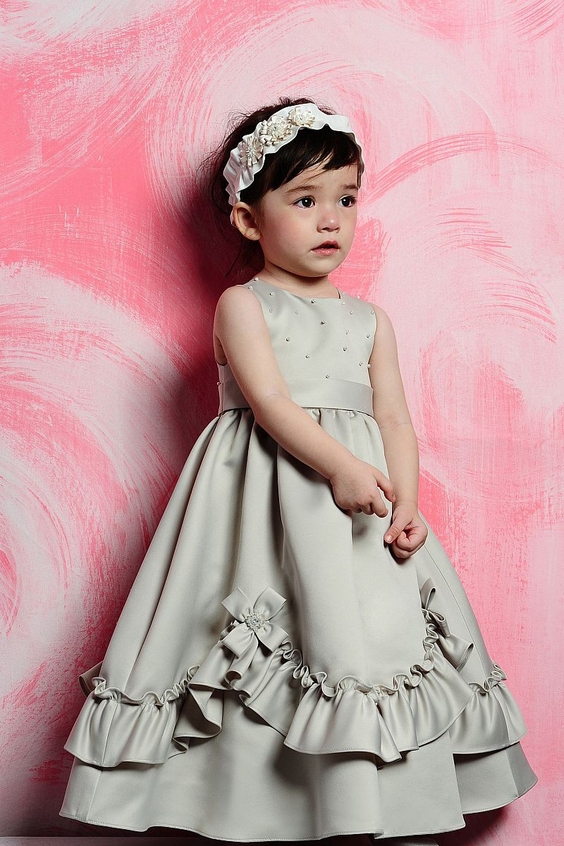 Straps with empire waist organza dress for flower girl