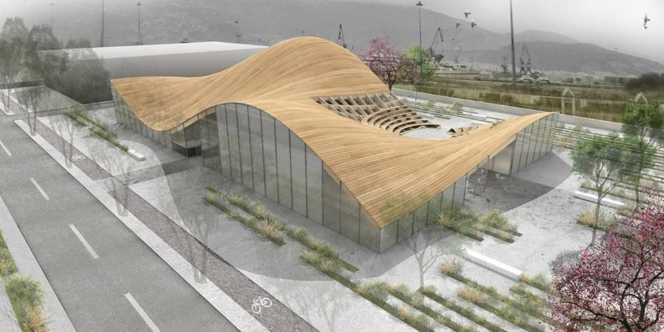 Roof & Ground linked together by an amphitheatre-form like seats