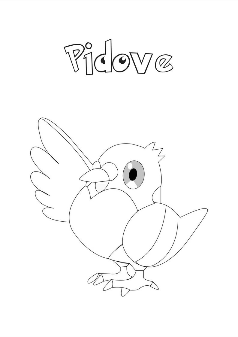 Pidove Pokemon Coloring Pages Monster Coloring Pages Pokemon Coloring [ 1122 x 793 Pixel ]