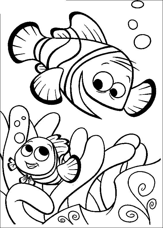 Top 20 Finding Nemo Coloring Pages For Kids Accompany As He Attempts To Find His Way Home From A Fish Tank With These Pri
