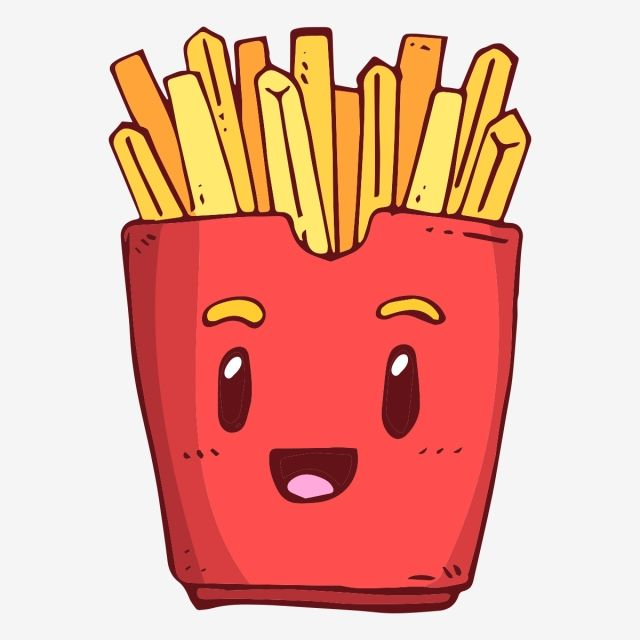 Smile Smiling Fries French Fries French Fries Smile Fries Clipart Cartoon Cartoon Fries Png And Vector With Transparent Background For Free Download French Fries Cartoon Cute Drawings