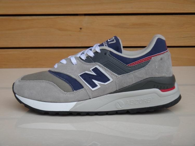 competitive price 93319 7f40d 2015 selling New Balance 997 Grey Navy Blue Red Men Sneakers