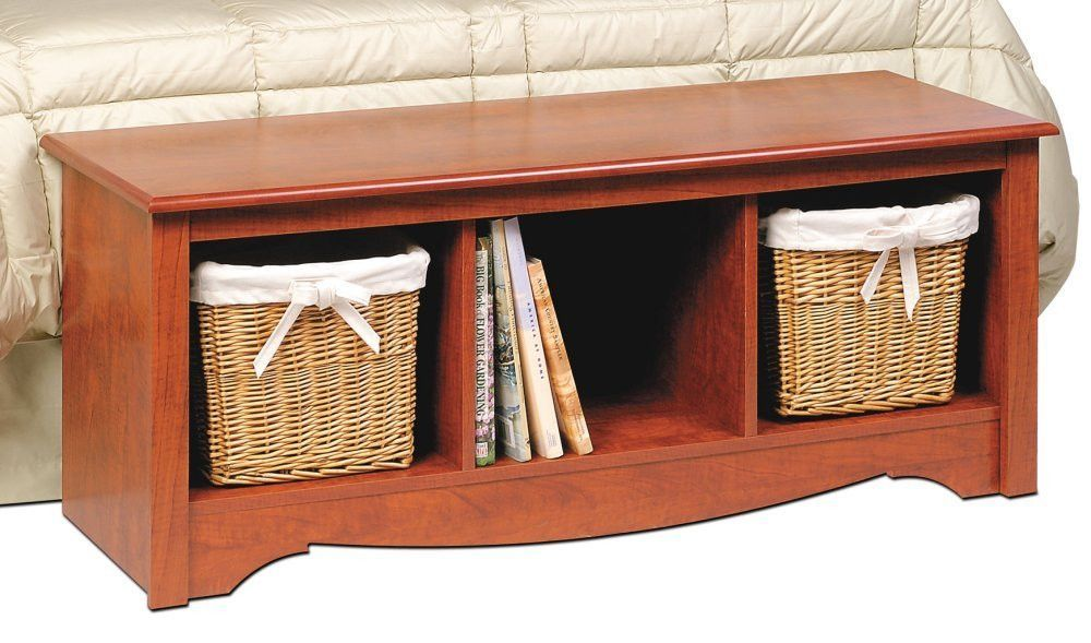 Prepac CSC-4820 Cherry Monterey Collection Cubbie Bench in Cherry ...