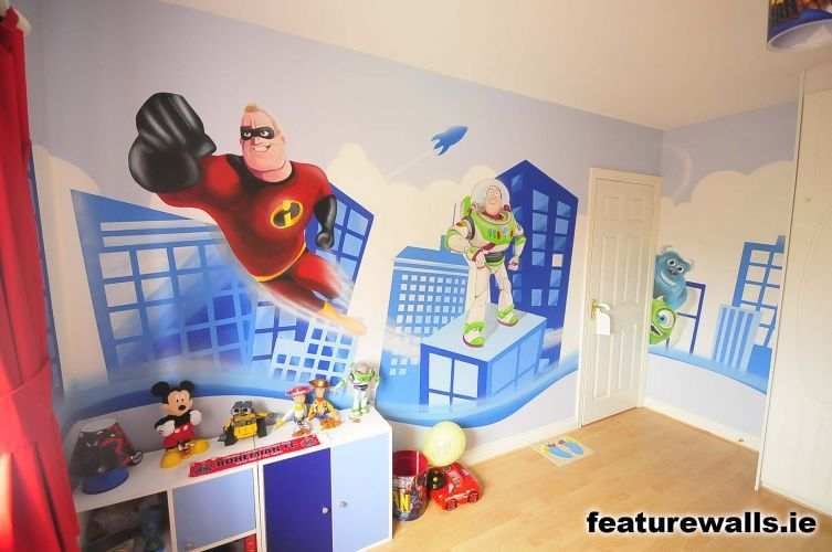 Superhero U2013 Kidu0027s Bedroom Painting Ideas For Boys Room | | Home Designs And  Pictures