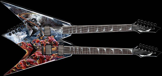 dean dave mustaine signature 2013 vmnt double neck vmnt series in 2019 dave mustaine guitar. Black Bedroom Furniture Sets. Home Design Ideas