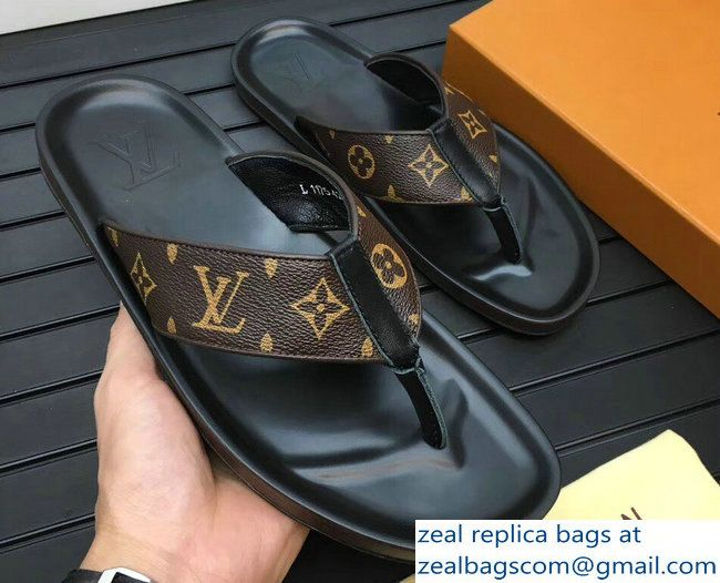 641d2132fd08 Louis Vuitton Men s Thong Sandals Monogram Canvas