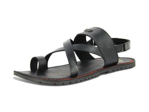 Alberto Torresi Francesco Black Sandals