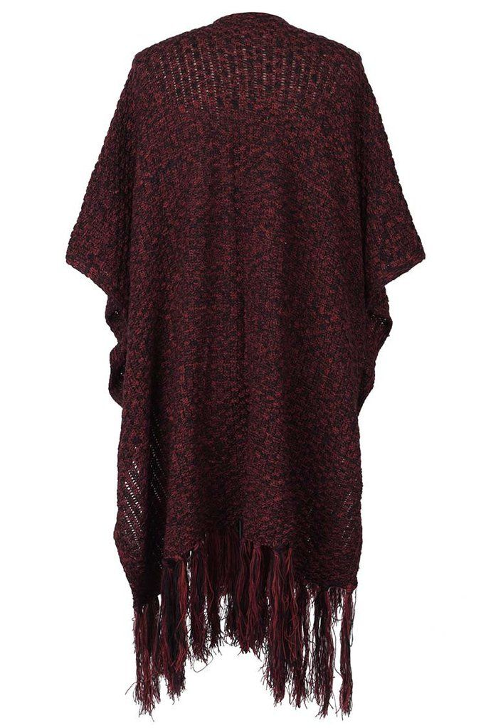 Cupshe Keep Swing Tassel Casual Poncho