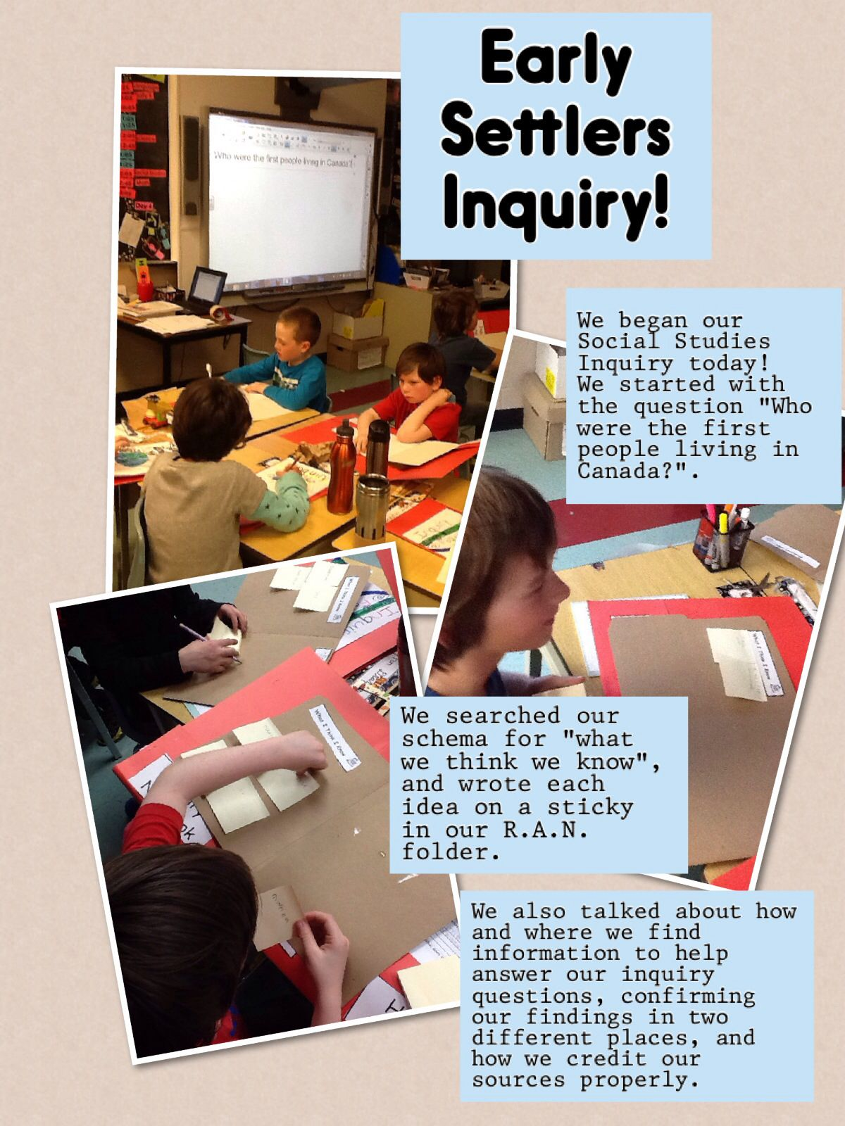 Early Settlers Inquiry