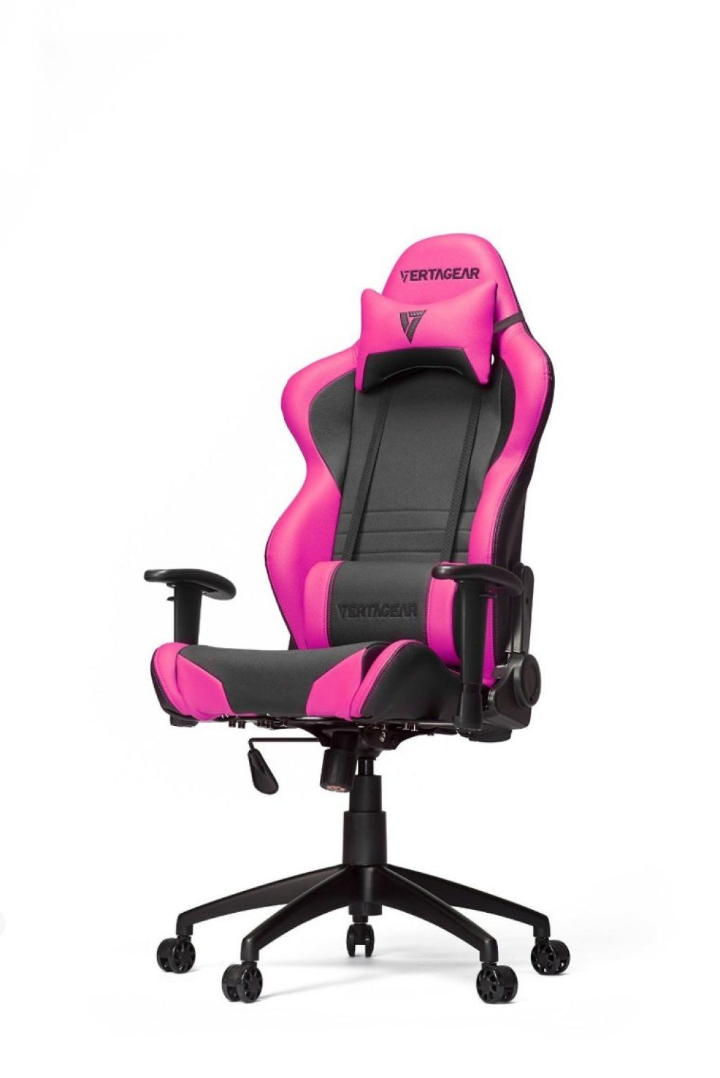 Magnificent Awesome Black And Pink Pu Leather Game Desk Chair With Andrewgaddart Wooden Chair Designs For Living Room Andrewgaddartcom