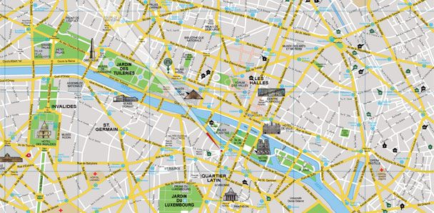 Paris Free Sightseeing Tours with great guides SANDEMANs NEW – Paris Tourist Map English