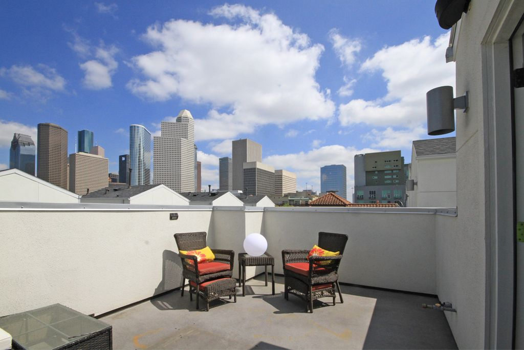 Sleek  modern town home within a gated community in Midtown Houston