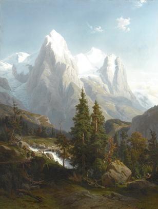 adelbert waagen paintings | Johann Wilhelm Lindlar (German 1816-1896) Figures walking in a ...