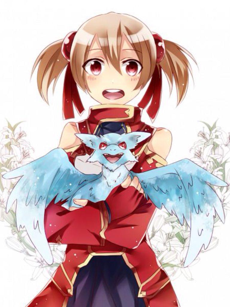Sao Silica And Pina Anime Pinterest Sword Art Online Sword