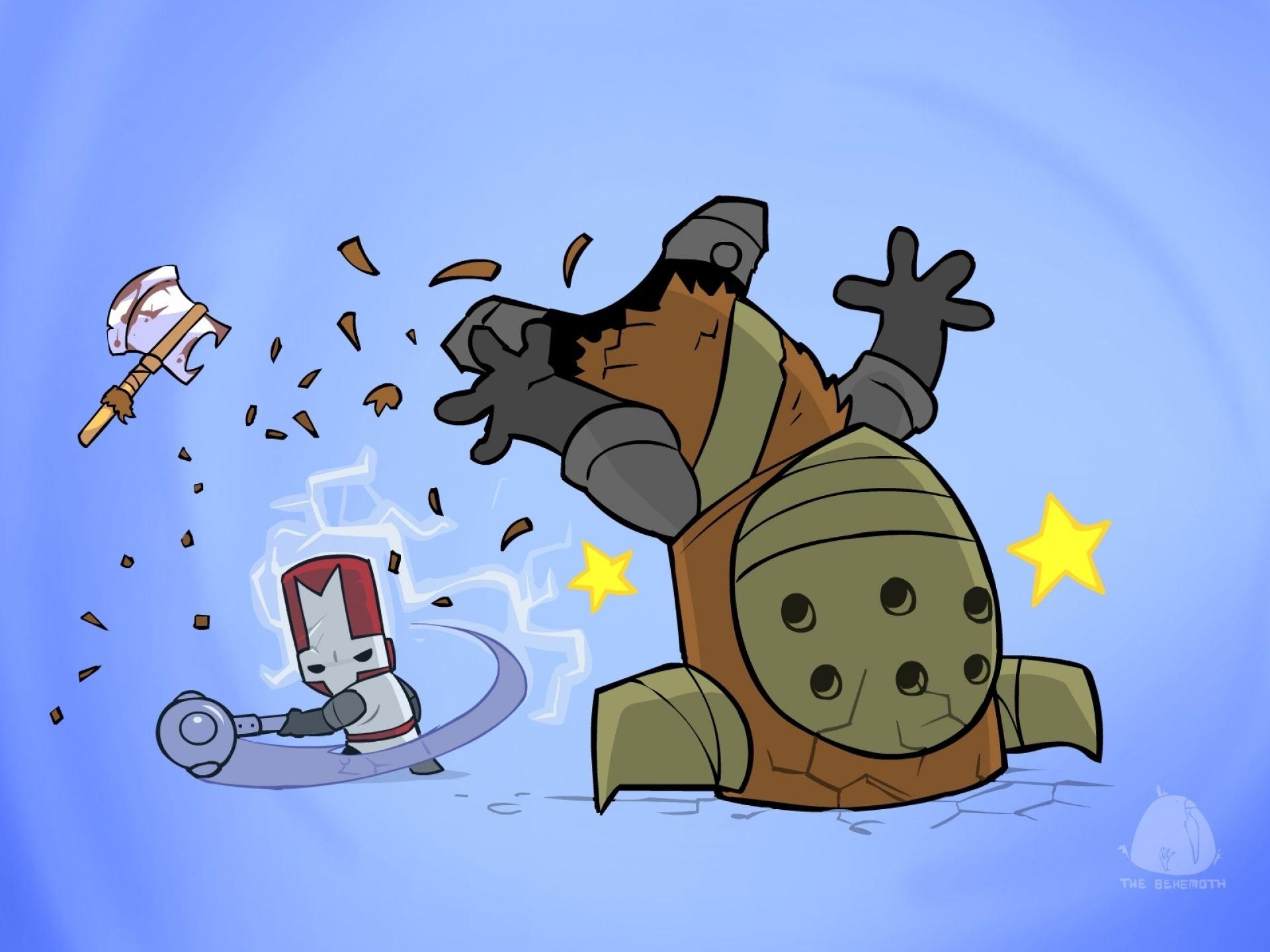 Castle Crashers Stars Gratis Achtergronden Castle Crashers Castle Clash Cartoon Styles