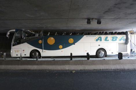 Ongeluk met Spaanse schoolbus naar Amsterdam