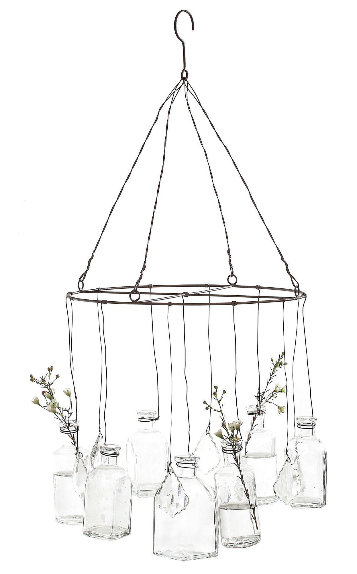 Creative Co Op Wire Hanging Vase Hanging Glass Vase Hanging