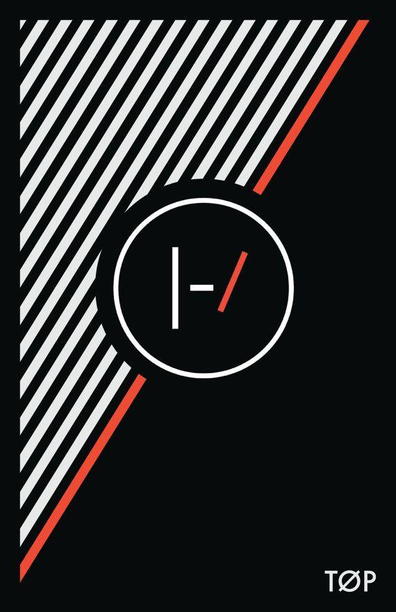 Twenty One Pilots Minimal Black White And Red Stripe Top