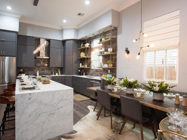 Property Brothers Take New Orleans...a very Brooklyn Modern style kitchen