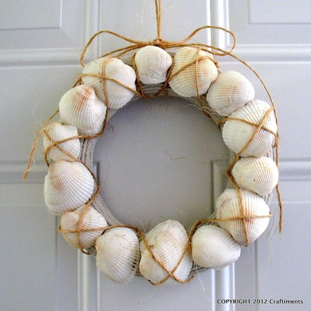 Craftiments: Seashell, Rope and Twine Wreath