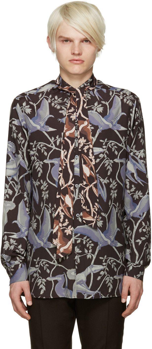 Loewe - Multicolor Dinosaur Print Shirt #shirts