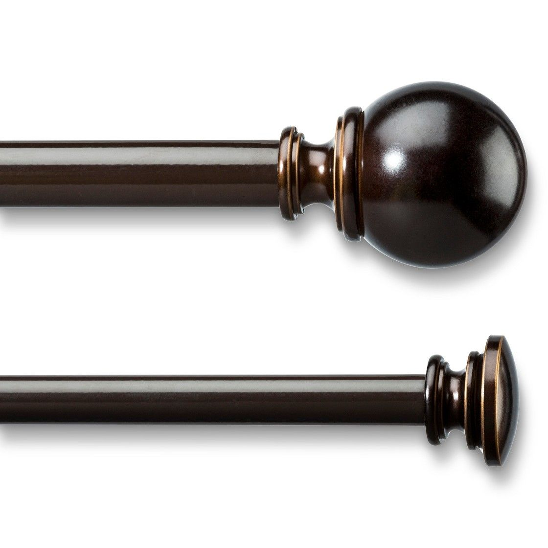 Umbra Ball Double Curtain Rod - Bronze