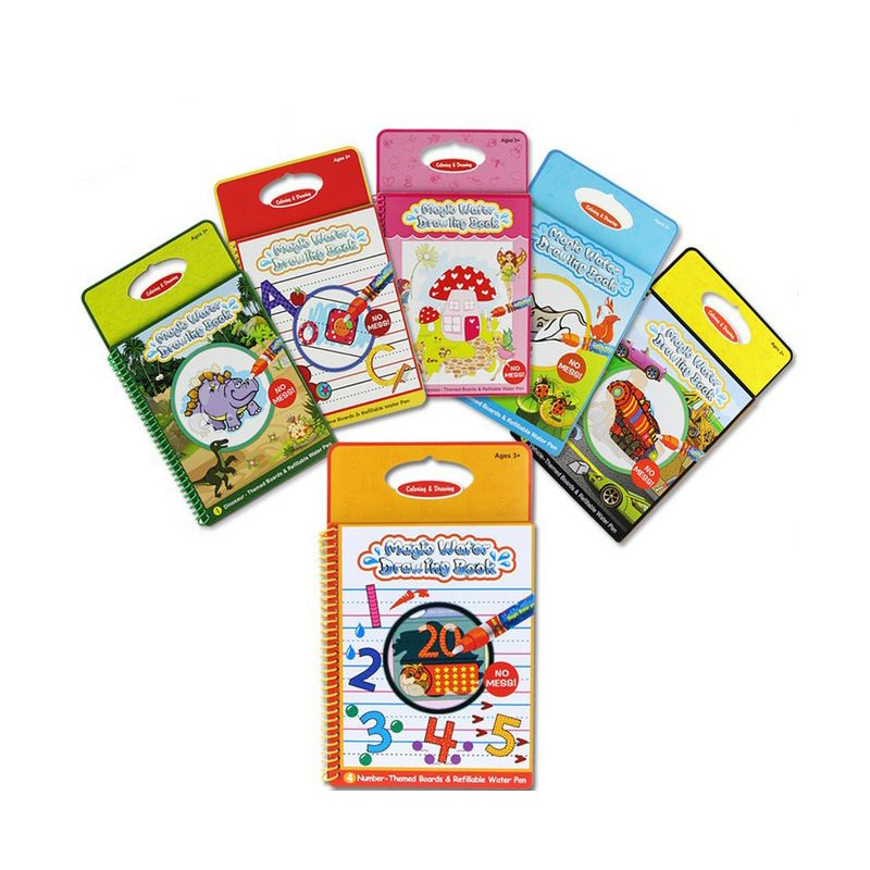 Magic Water Drawing Book Reusable Painting Board For ...