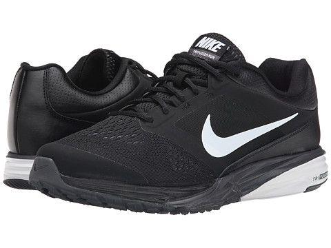 Black Nike Tri Fusion Run Black Dark Grey White