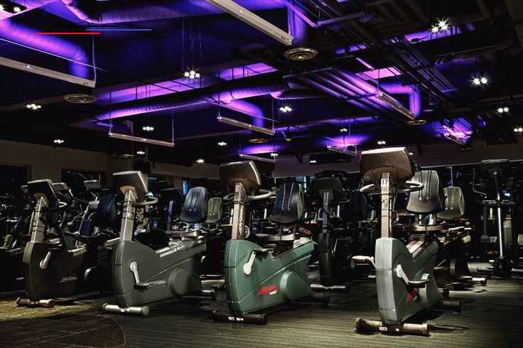 Emanuelson-Podas | Fitness Center Design | Cardio area at a Life Time Fitness facility. #mortarr #co...