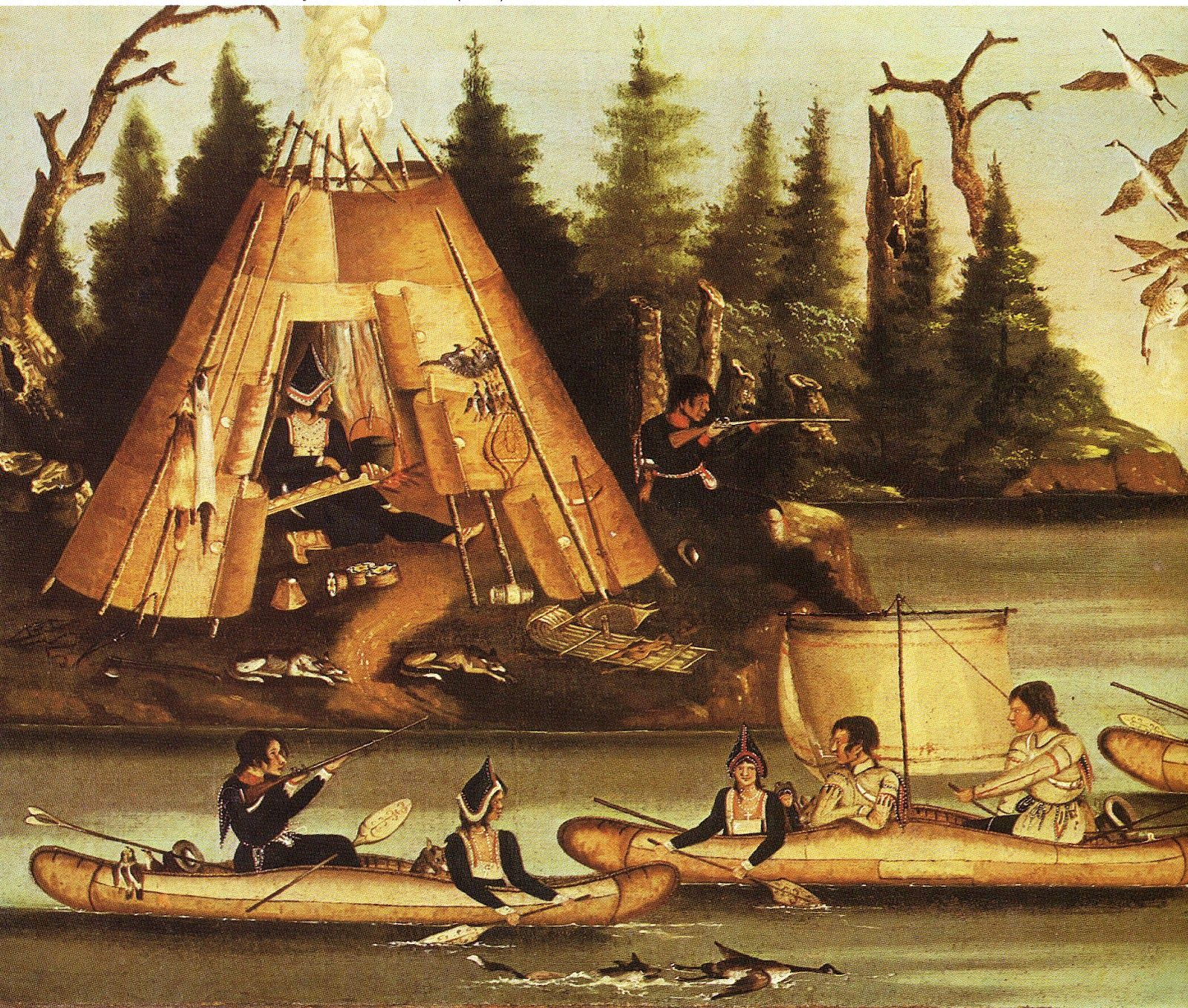 Native People in their traditional homes  Many Canadian