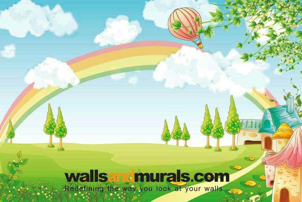 Sunshine And Rainbow Wallpaper For Kids Kids Wallpaper