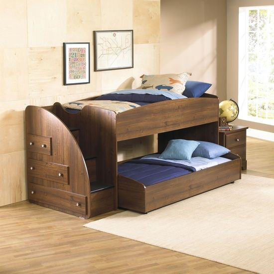 Best Parker Mid Height Loft Bed With Trundle Twin Loft Bed 400 x 300