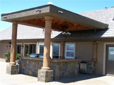 Slate Outdoor Built In Patio Bar | Patio Cover, BarOutdoor KitchensCentury  22 CreationsMenifee, CA