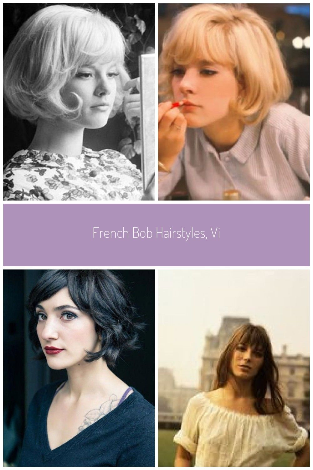 French Bob Hairstyles Vintage 60s Styles Haircuts Hairstyles French Haircuts Hairstyles Styles Vintag Messy Bob Hairstyles Hair Styles French Haircut
