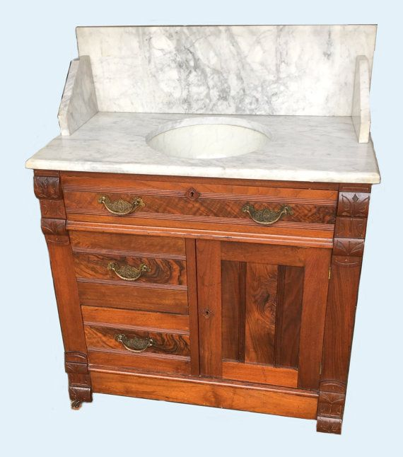 Antique Marble Top Commode Furniture Vanity Antique Bathroom Vanity Antique Wash Stand