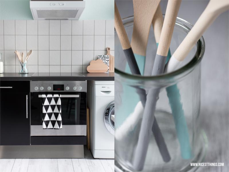 vinyldielen in der k che diy k chenhelfer diy kr utert pfe utensils wooden spoon and. Black Bedroom Furniture Sets. Home Design Ideas